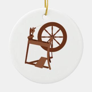 Spinning Wheel Ceramic Ornament