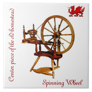 Spinning Wheel Collector's Tile