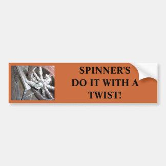 SPINNINGWHEEL, SPINNER'S DO IT WITH A TWIST! BUMPER STICKER