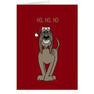 Spinone Italiano darkly Santa Card
