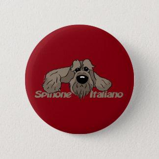 Spinone Italiano dkl. Head Cute 6 Cm Round Badge