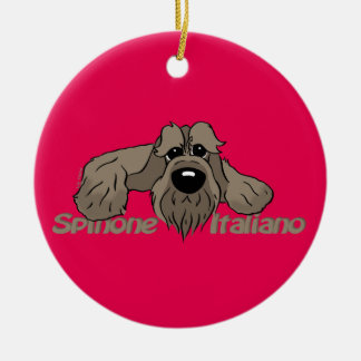 Spinone Italiano dkl. Head Cute Ceramic Ornament