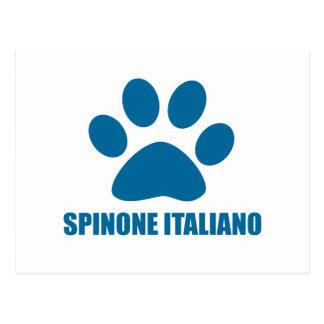 SPINONE ITALIANO DOG DESIGNS POSTCARD