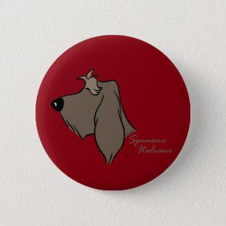 Spinone Italiano head silhouette 6 Cm Round Badge