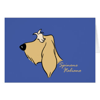 Spinone Italiano head silhouette blond Card