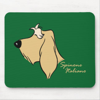 Spinone Italiano head silhouette blond Mouse Pad