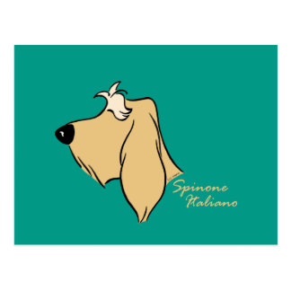 Spinone Italiano head silhouette blond Postcard