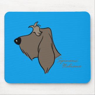 Spinone Italiano head silhouette Mouse Pad