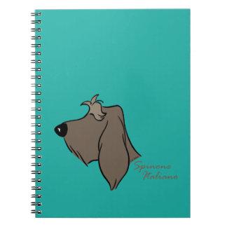 Spinone Italiano head silhouette Spiral Notebook