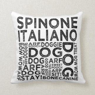 Spinone Italiano Typography Cushion