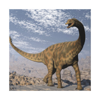 Spinophorosaurus dinosaur walking in the desert canvas print