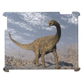 Spinophorosaurus dinosaur walking in the desert cover for the iPad