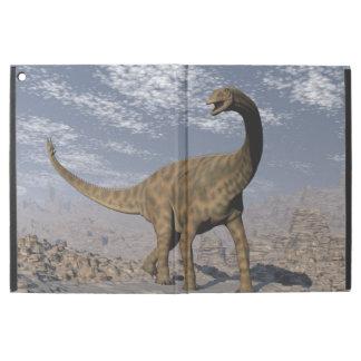 """Spinophorosaurus dinosaur walking in the desert iPad pro 12.9"""" case"""
