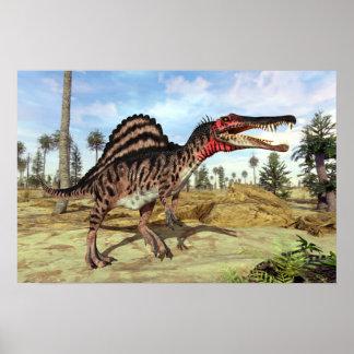 Spinosaurus Cretaceous Dinosaur Poster