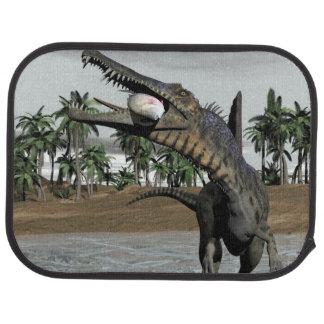 Spinosaurus dinosaur eating fish - 3D render Car Mat