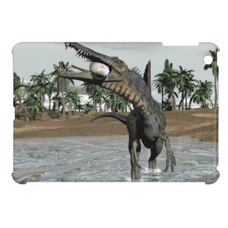 Spinosaurus dinosaur eating fish - 3D render iPad Mini Cases