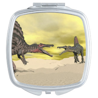 Spinosaurus dinosaur fighting - 3D render Compact Mirror