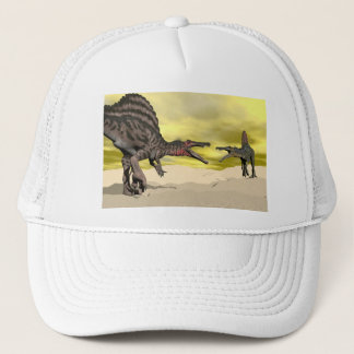 Spinosaurus dinosaur fighting - 3D render Trucker Hat