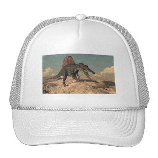 Spinosaurus dinosaur hunting a snake cap