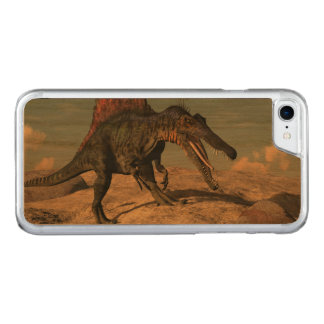 Spinosaurus dinosaur hunting a snake carved iPhone 8/7 case