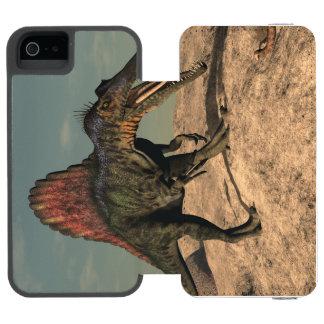 Spinosaurus dinosaur hunting a snake incipio watson™ iPhone 5 wallet case