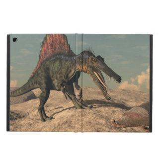 Spinosaurus dinosaur hunting a snake iPad air case