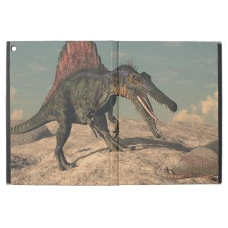 "Spinosaurus dinosaur hunting a snake iPad pro 12.9"" case"