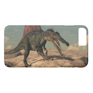 Spinosaurus dinosaur hunting a snake iPhone 8 plus/7 plus case