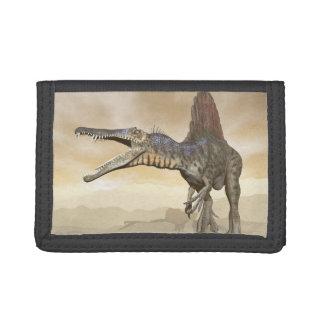 Spinosaurus dinosaur in the desert - 3D render Tri-fold Wallet