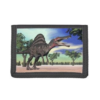 Spinosaurus dinosaur in the desert - 3D render Trifold Wallet