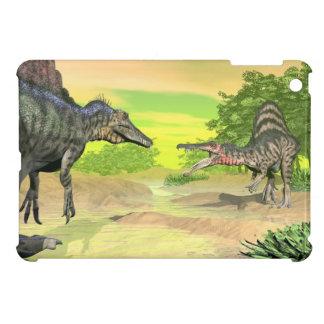 Spinosaurus dinosaurs fight - 3D render iPad Mini Cover
