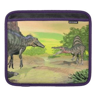 Spinosaurus dinosaurs fight - 3D render iPad Sleeve
