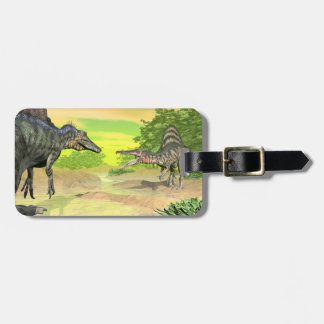 Spinosaurus dinosaurs fight - 3D render Luggage Tag