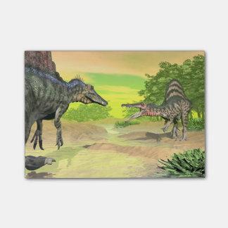 Spinosaurus dinosaurs fight - 3D render Post-it Notes
