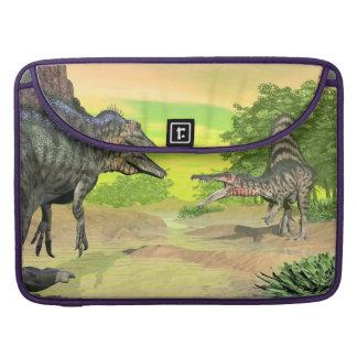 Spinosaurus dinosaurs fight - 3D render Sleeve For MacBook Pro
