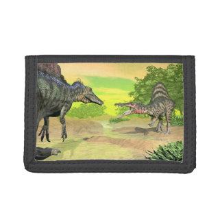 Spinosaurus dinosaurs fight - 3D render Tri-fold Wallet