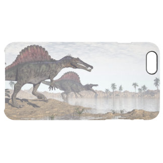 Spinosaurus dinosaurs in desert - 3D render Clear iPhone 6 Plus Case