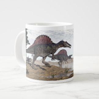 Spinosaurus dinosaurs in desert - 3D render Giant Coffee Mug
