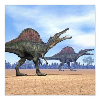 Spinosaurus dinosaurs walk - 3D render Card
