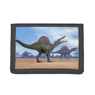Spinosaurus dinosaurs walk - 3D render Tri-fold Wallets