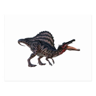 Spinosaurus Squatting and Looking Ferocious Postcard