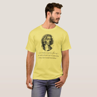 Spinoza Tolerance and  Understanding Quote T-Shirt