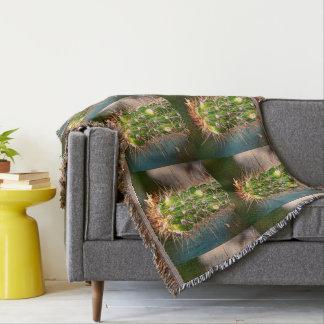 Spiny Cactus Throw Blanket
