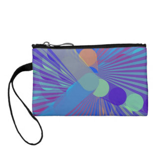 Spira-Weird - Colorful Abstract Change Purse