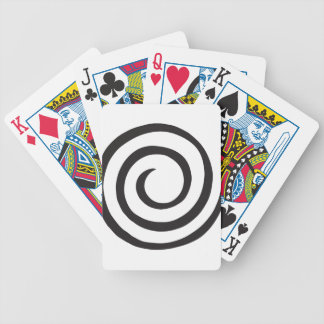 Spiral abstract bicycle playing cards