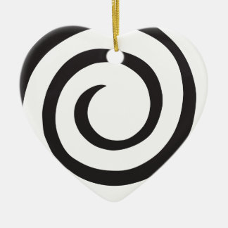 Spiral abstract ceramic ornament