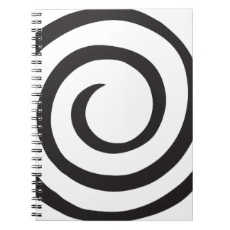 Spiral abstract notebooks