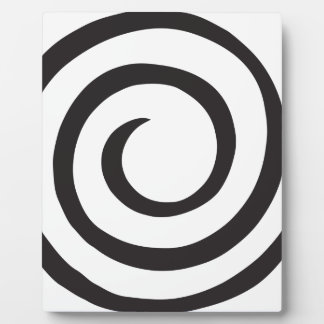 Spiral abstract plaque