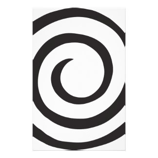 Spiral abstract stationery