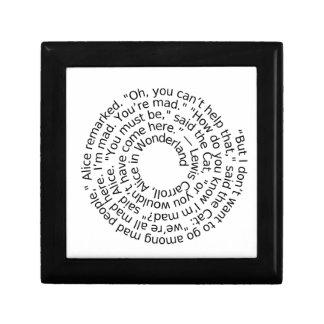 Spiral-alicewonderland2 Small Square Gift Box